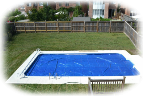 pool finished and covered